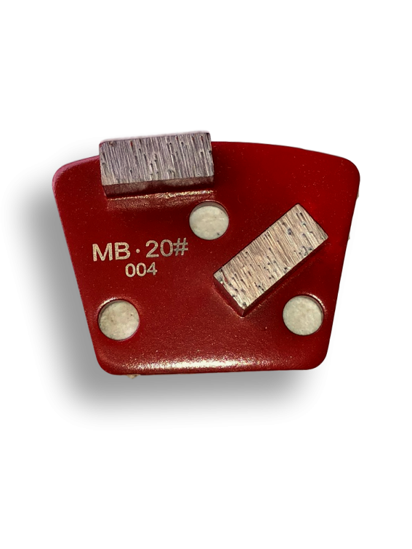 Medium Bond 20 Grit Double-Segment Half-Segment Trapezoid Tooling - MB20-2SS - Tooling