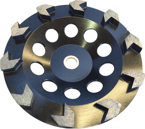 Arrow 10 Segment Cup Wheel - CW-AR10 - Tooling