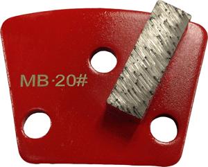 Medium Bond 20 Grit Single Segment Trapezoid Tooling - MB20-1S - Tooling