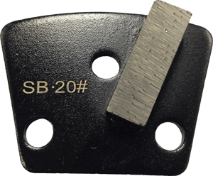 Soft Bond 20 Grit Single Segment Trapezoid Tooling - SB20-1S - Tooling