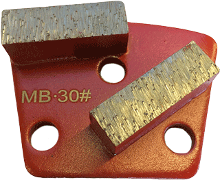 Medium Bond 30 Grit Trapezoid tooling - MB30-2S