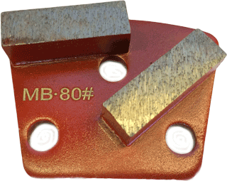 Medium Bond 80 Grit Trapezoid Tooling - MB80-2S - Tooling