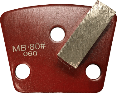 Medium Bond 80 Grit Single Segment Trapezoid Tooling - MB80-1S