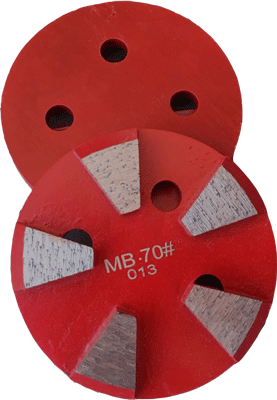 Medium Bond 30 Grit - 5 Segments - MB30-5S - Round Metal Bond Diamonds - Tooling