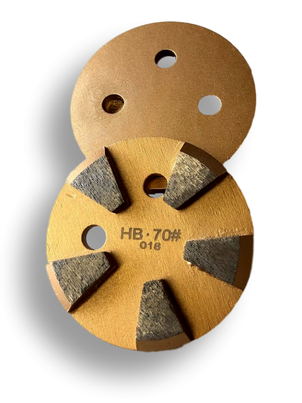 Hard bond 70 grit 5-segment metal bond diamonds - HB70-5S - Round Metal Bond Diamonds - Tooling