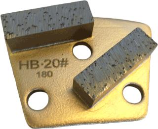 Hard Bond 20 Grit Trapezoid Tooling - HB20-2S